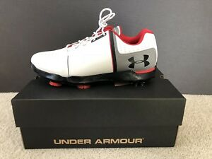 NEW UNDER ARMOUR SPIETH ONE JR. Boys YOUTH Golf Shoes Size 7Y White 1301154-108