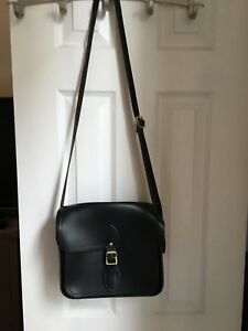 Cambridge Satchel Company black leather medium sized bag with cross body strap