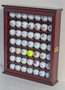 49 Golf Ball Display Case Rack Cabinet with Glass Door LOCKABLE  GB49L-CHE