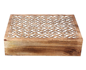 Gift From India Wooden Decorative & Stylish Antique Design Jewelry Treasure Ches