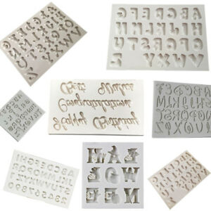 DIY 3D Alphabet Letter Shapes Fondant Mold Silicone Sugar Craft Cutter Mould