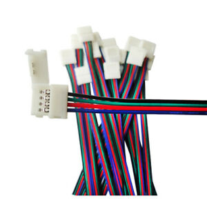 10x rgb extention cable for connect controller to led 4pin 5050 3528 led