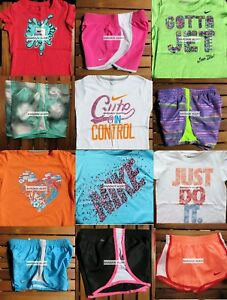GIRLS 6X SUMMER CLOTHING ~ TEMPO RUNNING SHORTS~ T-SHIRTS NEW ~ 12 Pieces ~ $267
