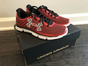 NEW Boys Under Armour Shoes Youth Kids UA BPS CLUTCH FIT REBEL SPEED Sz 2.5 Red
