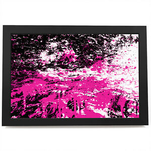 AB1073 Pink  black Modern Retro Abstract Framed Wall Art Large Picture Prints