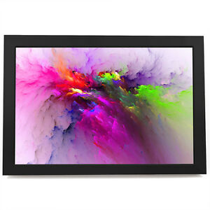 AB1487 Colourful Pink Cool Modern Abstract Framed Wall Art Large Picture Prints