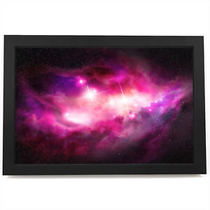 AB345 Pink Black Stars Cool Modern Abstract Framed Wall Art Large Picture Prints