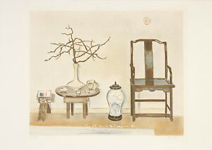 Einar Jolin - Asian Interior - Lithograph Signed Limited Edition