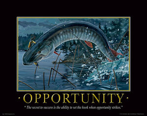 Muskie Fishing Motivational Poster Art Print Vintage Musky Lures Shimano Rods