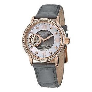 Stuhrling Women's Skeleton MOPAutomatic WindSwarovski & Diamond Accent Watch
