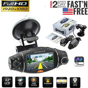 Dual Lens GPS Car DVR Camera HD Dash Cam Video Recorder G-sensor Night Vision US