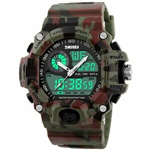 Multi Function Military S-shock Camouflage Green Sports Watch LED 2DAY SHIP