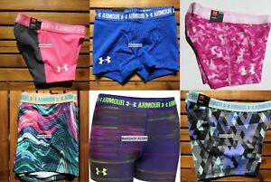 UNDER ARMOUR GIRLS FITTED SHORTS ~  SIZE XL ~ GYMNASTIC DANCE SHORTS ~ 6 pairs
