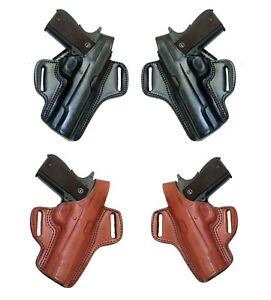 Conceal Carry Holster Tagua BH1 Leather Belt Pancake with Thumb Break Retention
