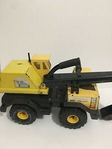 Vintage Yellow Tonka MightyBackhoe Construction Vehicle Toy Truck - Large 22