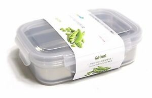 STENMOM Stainless Steel and Plastic Lunch Box Container 560ml (18.9oz) NO 5