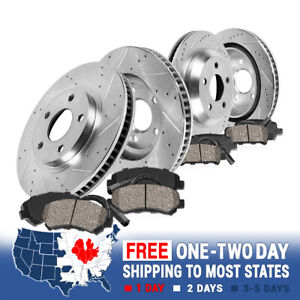 Front+Rear Drill Slot Brake Rotors +Ceramic Pads For 2011 - 2016 528i xDrive 528