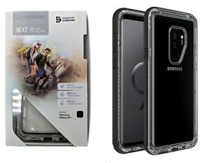 LifeProof NEXT Case Cover for Samsung Galaxy S9 Plus S9+ Clear Black Crystal