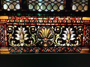 Tiffany Studios Leaded Art Glass Gothic Style Window From Museum