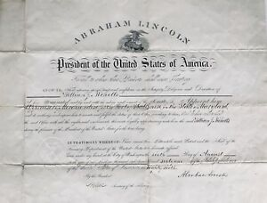 Important Signed Abraham Lincoln Civil War Commission Document