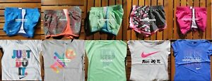 NIKE GIRLS 4T ~ 10 Pieces ~ SUMMER TEMPO DRI-FIT RUNNING SHORTS  T-SHIRTS ~ $226