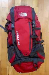 The North Face Terra 55 RED Backpack🎒Hiking Camping Big Kids Pack Travel 🏞