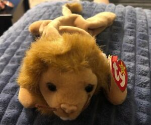 RARE!!!  MANY FACTORY ERRORS!!!  beanie baby (Roary) in awsome condition. NMWT