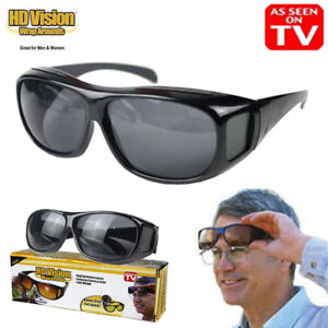 Unisex As On TV HD Vision Driving Sunglasses Wrap Around Glasses Anti Glare UV