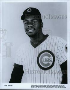 Press Photo Lee Smith a Right handed baseball pitcher of Chicago Cubs