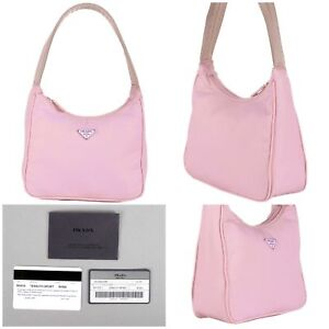 $250 PRADA BAG IN PINK STUNNING COLOR W AUTHENTICITY CARDS
