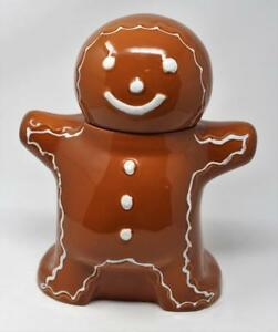 Hartstone USA Gingerbread Man Cookie Man Stoneware Pottery Cookie Jar
