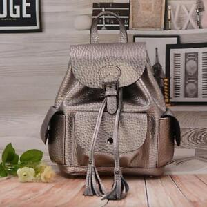 Fashion tassel drawstring women backpack designer genuine leather backpacks coll