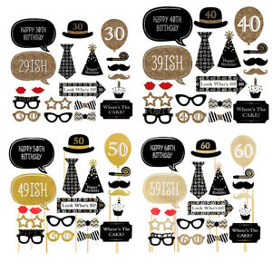 Party Props Photo Booth Funny for Dress Up Accessories Birthday Special - 20pcs