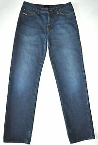 Just Cavalli Men#x27;s Dark Blue Jeans Button Fly Actual Measurements W31quot; L33quot; Tall