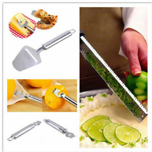 Stainless Steel and Plastic Hand Cheese Grater Slicer Nutmeg Zester Kitchen Tool