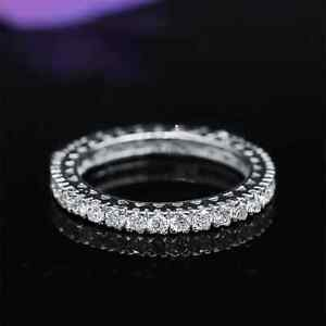 Charming White Gold Diamond Eternity Band with 1.60ct of TDW