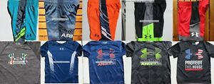 UNDER ARMOUR BOYS YOUTH SIZE 4 ~ SHORTS ~ TOPS ~ SUMMER 10PC ~BRAND NEW $238