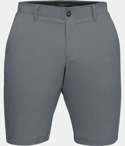 Under Armour UA Flat-Front Showdown Tapered Golf Shorts 1309548 Gray 513 Size 36