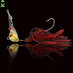 Jigging Spinner Bait Fishing Lure Saltwater Artificial Bait With Metal Spoon New