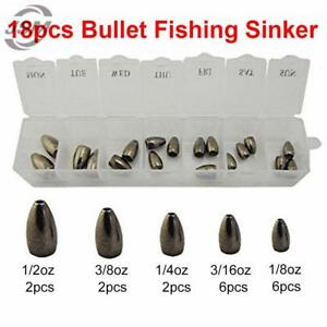 Tungsten Bullet Fishing Sinker For Texas Ring Plastic Worm Weight Casting Sinker
