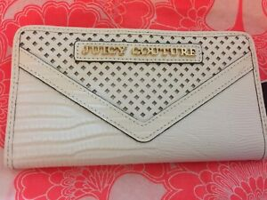 New Juicy Couture Women's Ladies White Leather Continental BiFold Wallet Clutch