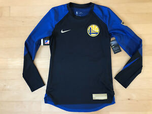 Golden State Warriors Nike Dri-FIT Long Sleeve NBA Finals PE Size Small S 2018