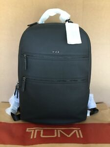 Tumi Landon Alcott Black Leather Backpack 93801 Men Travel Rucksack Bag $1800