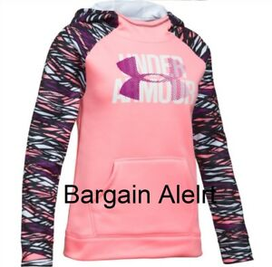 Under Armour Girl's Hoodie STORM SWEATSHIRT PINK BLACK PURPLE~ XL ~ EXTRA LARGE