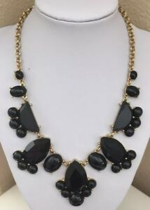 NEW Kate Spade NY Black Crystal & Gold Tone Day Tripper Statement Necklace