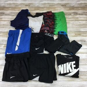 NIKE ADIDAS UNDER ARMOUR ~ BOYS YOUTH XS ~ LOT OF SPORTS FITNESS SHIRTS SHORTS