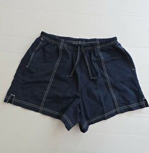Vtg 80s NIKE Navy Blue Dry Fit Running Workout Shorts Women Size M 8 10