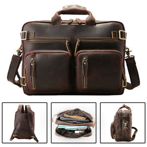 Mens Leather Backpack 16