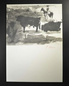 """Pablo Picasso Lithograph """"Toros y Toreros"""" (bulls) 1959.  Signed by Picasso. $499.00"""