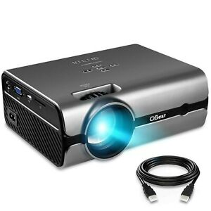Video Projector CiBest +80% Lumens 4Inch Mini Projector with 170